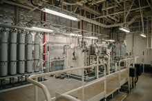 Production Room With Cylinders And Pipes