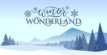 Winter Wonderland Banner Vecto...