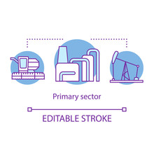 Primary Sector Concept Icon. P...