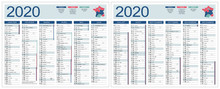 CALENDRIER 2020 Modifiable (ba...