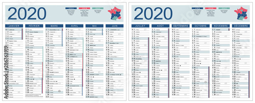 Calendrier 2020 Avec Jour Ferie.Calendrier 2020 Modifiable Base Pour 265x210mm R V Lunes