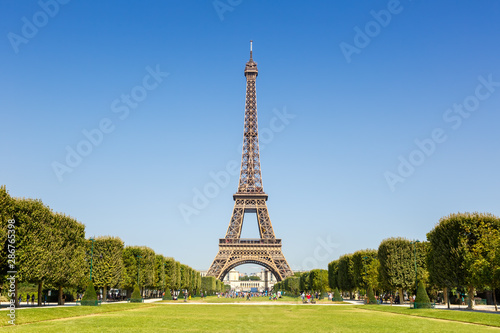 Photo Stands Eiffel Tower Paris Eiffel tower France travel landmark