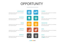 Opportunity Infographic 10 Option Concept.chance, Business, Idea, Innovation Simple Icons