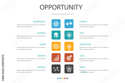 Fotografía opportunity Infographic 10 option concept