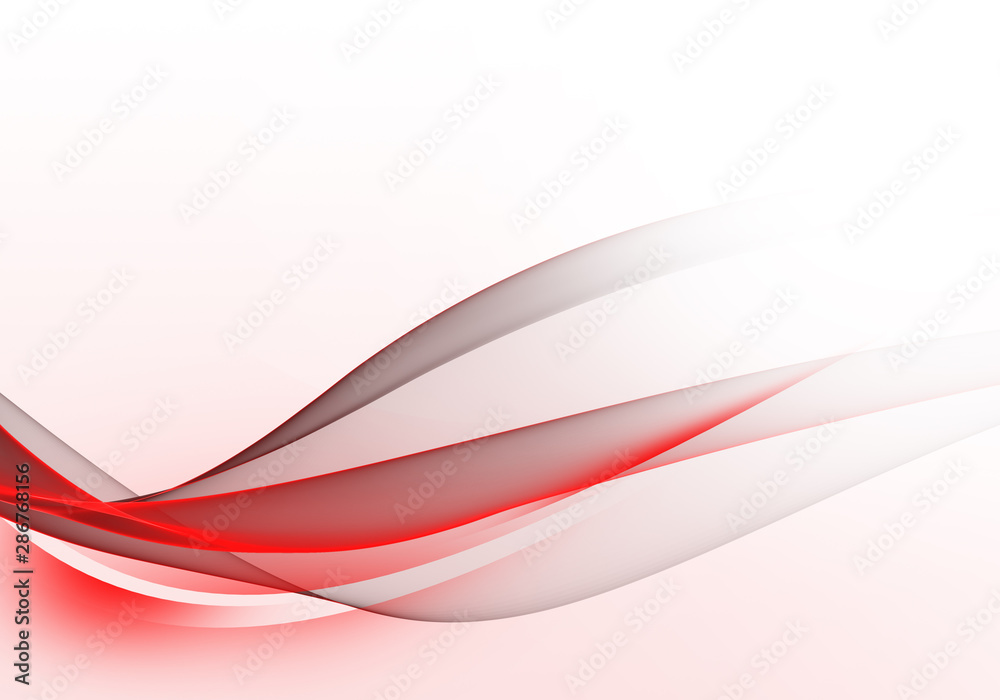 Fototapeta Abstract bright background with red and grey dynamic lines for wallpaper, business card or template