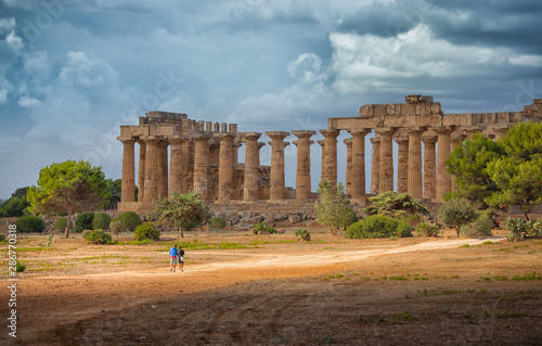 The Greek archaeological site of Selinunte in Sicily, Italy Fototapet
