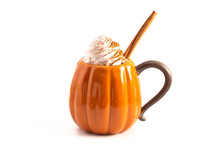 A Pumpkin Spice Latte Isolated...