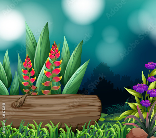 Background scene with nature theme