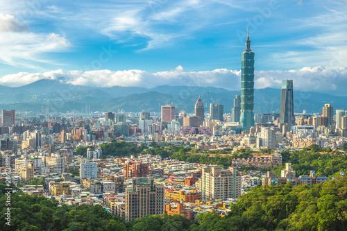 Panoramic view of Taipei City, taiwan Wallpaper Mural