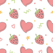 Seamless Pattern With Doodle H...