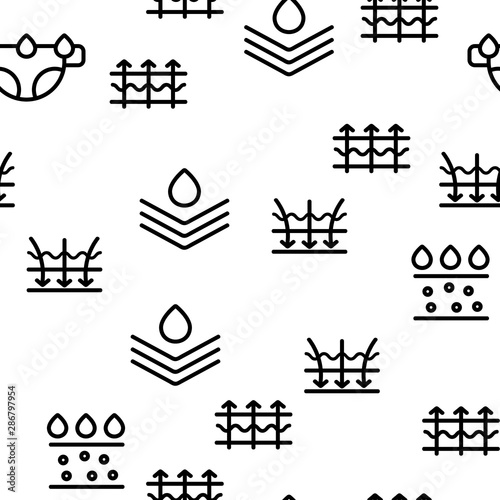 Photo Absorbent, Absorbing Materials Vector Seamless Pattern Contour Illustration