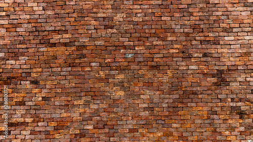 Fotografía Red brick wall texture and background, can be used as wallpaper and background