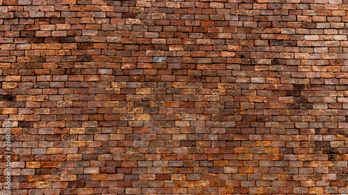 Cuadros en Lienzo Red brick wall texture and background, can be used as wallpaper and background