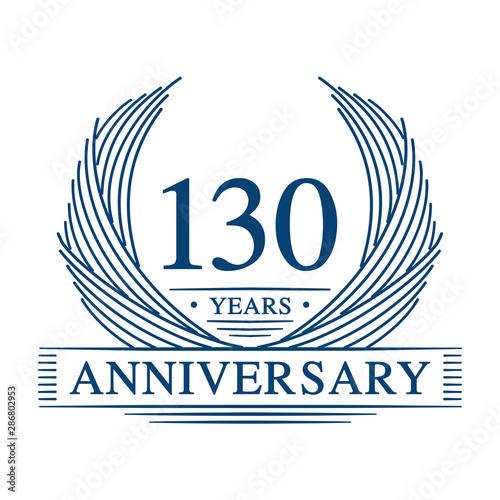 Fotografía  130 years design template