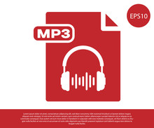 Red MP3 File Document. Downloa...