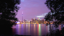Toronto Downtown Cityscape At Sunset, Ontario, Canada