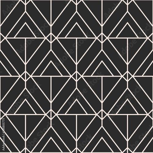 fototapeta na ścianę Vector geometric seamless pattern, Mid century elegant minimal ornament