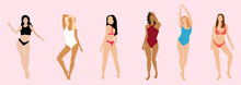 Multiracial Women  In Swimsuits