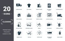 Cleaning Set Icons Collection....