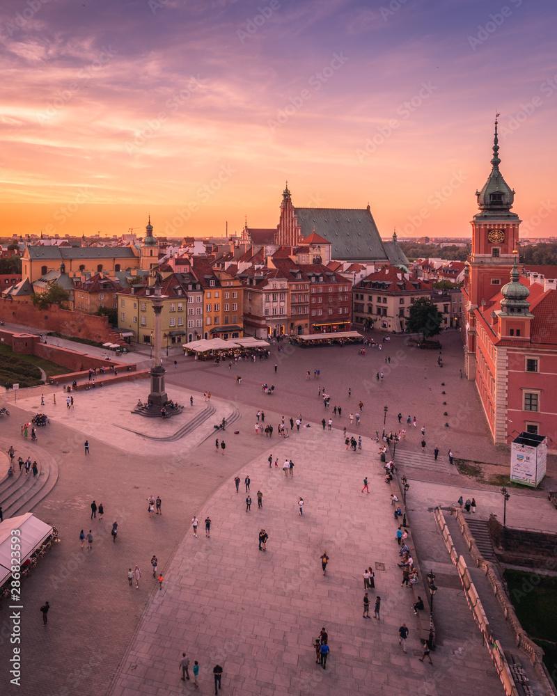 Fototapety, obrazy: Warsaw market square
