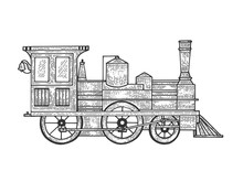 Old Steam Locomotive Train Tra...