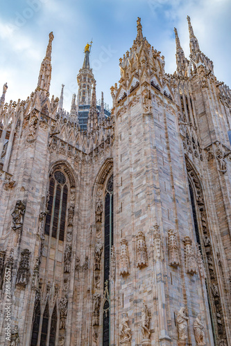 Architectonic details from the Milan Cathedral, Italy Wallpaper Mural