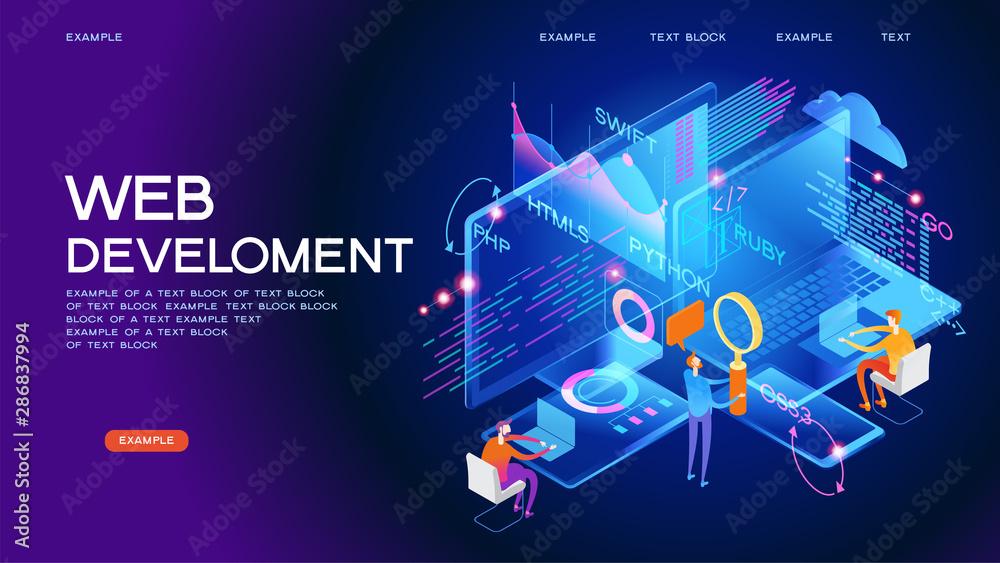 Fototapety, obrazy: Programming web banner