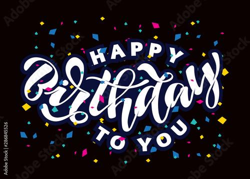 Fototapeta Happy Birthday Vector Card Hand Drawn Vector