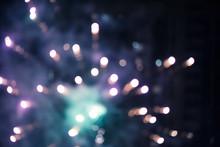 Blurred Colorful Closeup Firew...