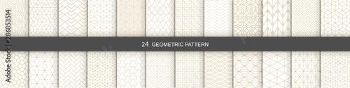 Fototapety, obrazy: Set of Geometric seamless patterns. Abstract geometric  hexagonal  graphic design print 3d cubes pattern. Seamless  geometric cubes pattern.