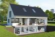 Leinwanddruck Bild - Aufgeschnittenes Haus