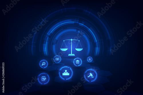 Cuadros en Lienzo  information technology internet digital justice law Labor Law Lawyer Legal Business  Concept