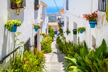 White Streets Of Mijas. Andalu...