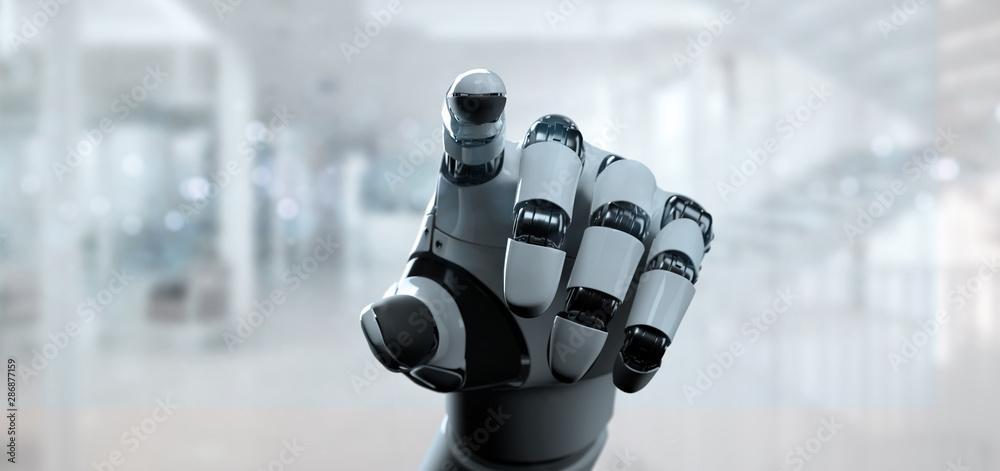 Fototapeta Cyborg robot hand - 3d rendering