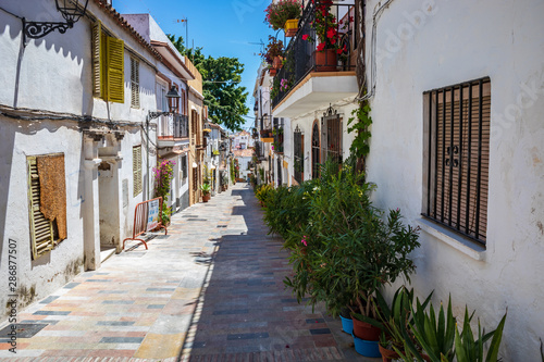 Foto op Aluminium Cyprus Townscape of Marbella on the Costa del Sol