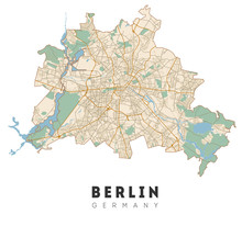 Berlin Map. Detailed Poster Ci...