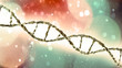 canvas print picture - DNA, Deoxyribonucleic acid is a thread-like chain of nucleotides carrying the genetic instructions used in the growth, development, functioning and reproduction of organisms. 3d render
