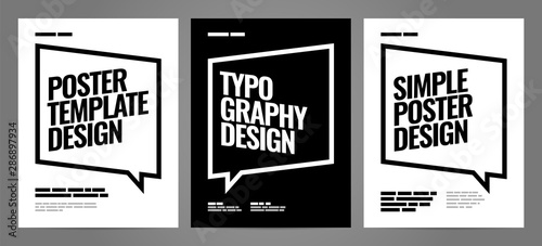 Simple template design with typography for poster, flyer or cover Wallpaper Mural