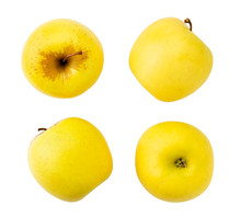 Set Of Yellow Apples Isolated ...
