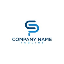 Simple And Elegant Company Initial Letter CP Or CPS  Monogram Logo Type