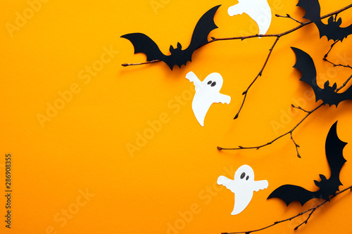 Happy halloween holiday concept Canvas