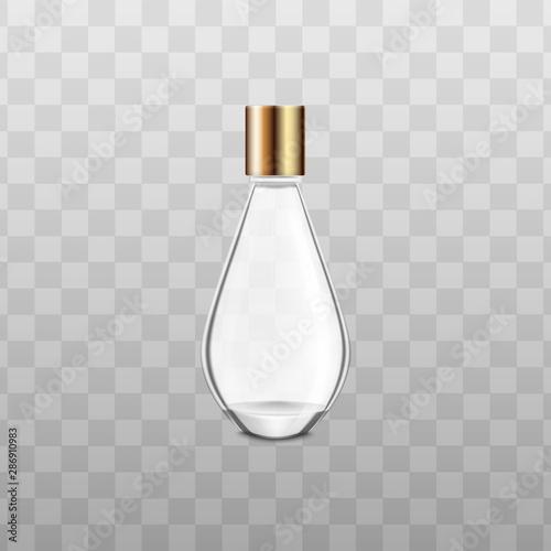 Fotomural  Perfume or fragrance bottle mockup realistic vector illustration isolated