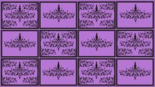 Black And Purple Pattern. Classic Ornament