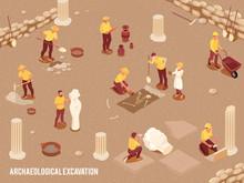 Archeology Isometric Background