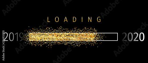 Fotomural Loading 2020 (Ladebalken 2020)- Loading Bar 2020