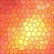 Mosaic background, orange-yellow with tangerine color, large mesh of polygons, vector.