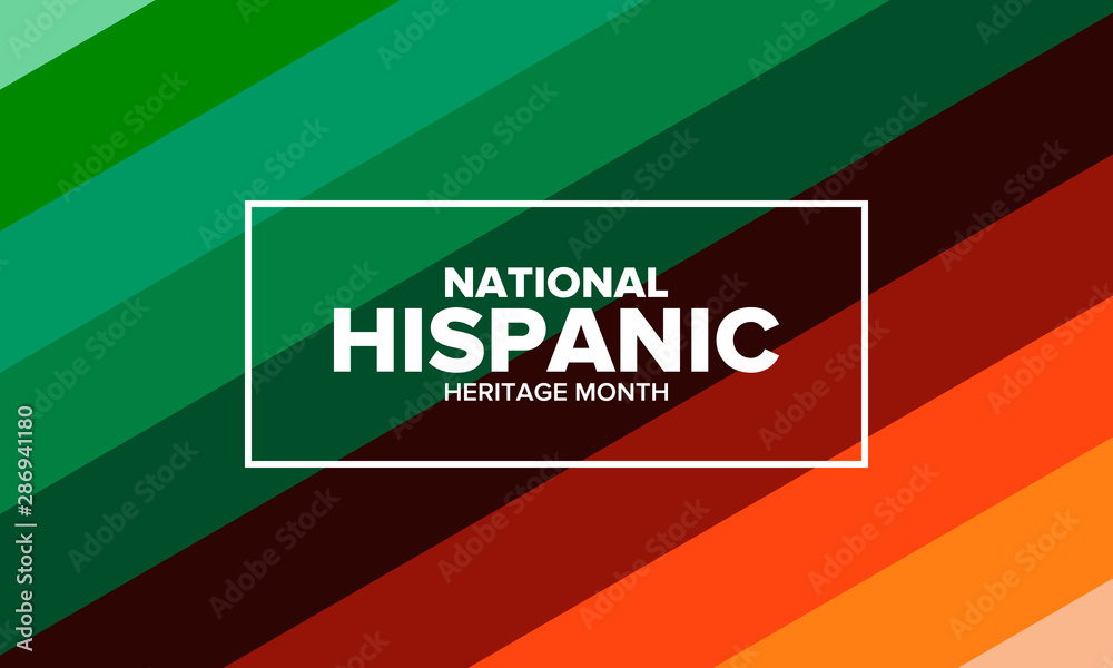 Fototapety, obrazy: National Hispanic Heritage Month in September and October. Hispanic and Latino Americans culture. Celebrate annual in United States. Poster, card, banner and background. Vector illustration