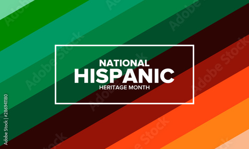 Valokuva  National Hispanic Heritage Month in September and October