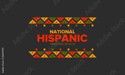 Fotografía National Hispanic Heritage Month in September and October