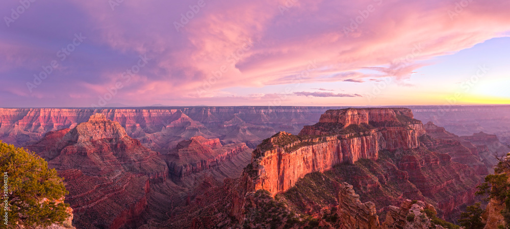 Fototapety, obrazy: Summer sunset at the Grand Canyon, Arizona, USA.
